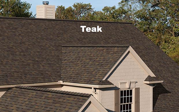 Teak Roof Amp Owens Corning Duration Premium 24 6 Sq Ft Teak